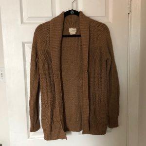 Brown Cardigan Sweater